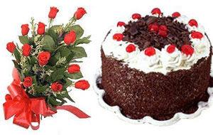 Polatlı internetten çiçek satışı  12 ADET KIRMIZI GÜL BUKET VE YASPASTA