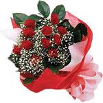 Polatlı internetten çiçek satışı  KIRMIZI AMBALAJ BUKETINDE 12 ADET GÜL