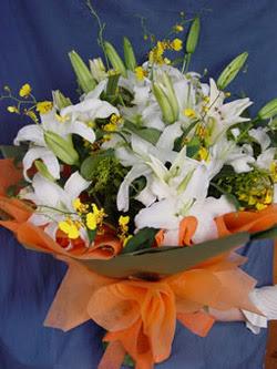 Polatlı internetten çiçek satışı  5 ADET KAZABLANKA BUKETI KALITEDEN SASMAYANLARA