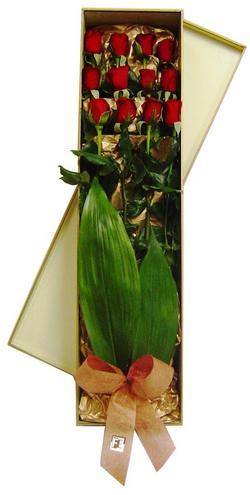 çiçekçi mağazası  görsel bir kutu içerisinde 12 adet kalite gül