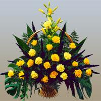 Polatlıya çiçek çiçek mağazası , çiçekçi adresleri  17 adet sari gül ve sari kir çiçekleri
