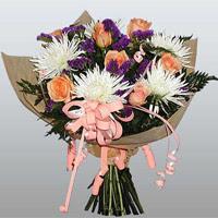 güller ve kir çiçekleri demeti   Polatlıdaki çiçekçiler