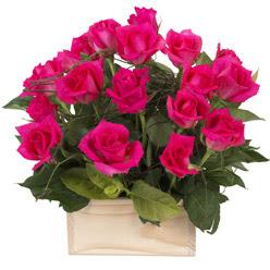 12 adet pembe güllerden sepet tanzimi  Polatlı yurtiçi ve yurtdışı çiçek siparişi