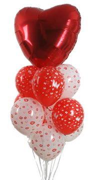 Sevdiklerinize 17 adet uçan balon demeti yollayin.  çiçek siparişi sitesi
