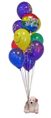 Polatlıya çiçek Ankara çiçekçi telefonları  Sevdiklerinize 17 adet uçan balon demeti yollayin.