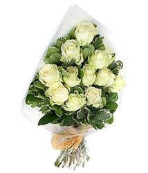 Ankara Polatlı online çiçekçi , çiçek siparişi  12 li beyaz gül buketi.
