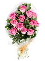 Polatlı yurtiçi ve yurtdışı çiçek siparişi  12 li pembe gül buketi.