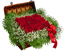 Polatlı çiçek satışı  17 adet gül ve örme japon sepeti