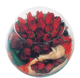 Polatlı anneler günü çiçek yolla  Cam fanus içerisinde sevdiklerinize özel 12 gül