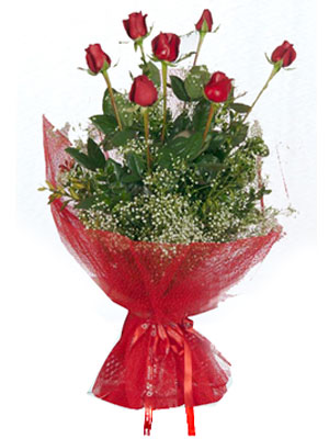 Polatlıdaki çiçekçiler çiçek servisi , çiçekçi adresleri  7 adet gülden buket görsel sik sadelik