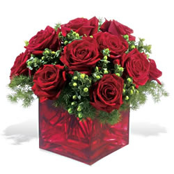 Ankara Polatlı çiçek yolla  9 adet kirmizi gül cam yada mika vazoda