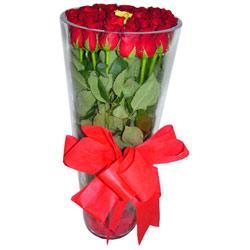 Polatlı çiçek online çiçek siparişi  12 adet kirmizi gül cam yada mika vazo tanzim