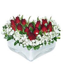 internetten çiçek siparişi  mika kalp içerisinde 9 adet kirmizi gül