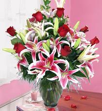 Ankara Polatlı İnternetten çiçek siparişi  harika vazo tanzimi gül - kazab