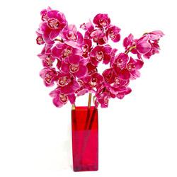 ucuz çiçek gönder  Cam yada mika vazo içerisinde 3 adet dal orkide