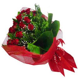 Ankara Polatlı Ankara kaliteli taze ve ucuz çiçekler  12 adet kirmizi essiz gül buketi - SEVENE ÖZEL