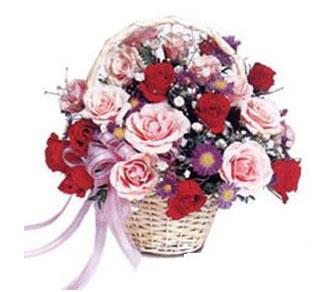 Polatlıdaki çiçekçiler  Karisik gül sepeti 13 adet gül güller
