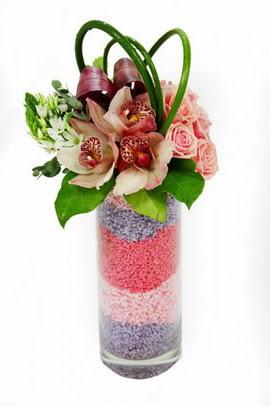 Polatlı internetten çiçek satışı  3 kandil orkide 7 adet gül cam yada mika vazoda