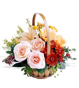 Polatlı uluslararası çiçek gönderme  Orta boy Karisik mevsim çiçeklerinden sepet