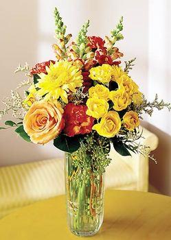 14 şubat sevgililer günü çiçek  mika yada cam içerisinde karisik mevsim çiçekleri