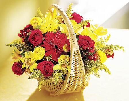 Polatlı internetten çiçek satışı  Sepet içerisinde mevsim çiçekleri