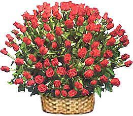 Polatlı çiçek yolla , çiçek gönder , çiçekçi   51 adet kirmizi gül sepet içerisinde