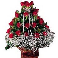 Polatlı anneler günü çiçek yolla  12 gülden essiz sepet tanzimi