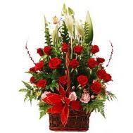 Polatlı çiçek online çiçek siparişi  12 gül den ve kir çiçeklerinden sepet tanzimi