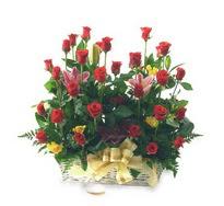 Polatlıya çiçek çiçek mağazası , çiçekçi adresleri  15 adet kirmizi gülden sepet tanzimi