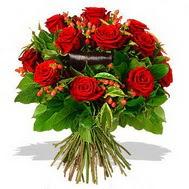 9 adet kirmizi gül ve kir çiçekleri  Polatlı internetten çiçek satışı