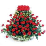 Ankara Polatlı Ankara kaliteli taze ve ucuz çiçekler  41 adet kirmizi gülden sepet tanzimi