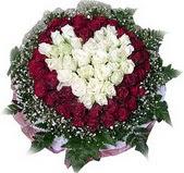 Polatlıya çiçek çiçek mağazası , çiçekçi adresleri  27 adet kirmizi ve beyaz gül sepet içinde