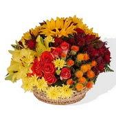 Ankara Polatlı online çiçek gönderme sipariş  karisik mevsim çiçeklerinden aranjman