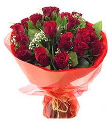 Polatlı anneler günü çiçek yolla  11 adet kimizi gülün ihtisami buket modeli