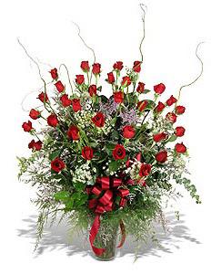 çiçek siparişi sitesi  33 adet kirmizi gül vazo içerisinde