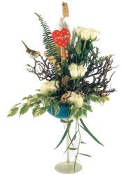 Polatlı çiçek gönderme sitemiz güvenlidir  kadeh içerisinde görsel gül tanzimi