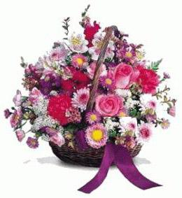 Polatlı çiçek gönderme sitemiz güvenlidir  Karisik kir çiçeklerinden sepet tanzimi