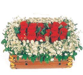 Ankara Polatlı çiçek yolla  11 adet kirmizi gül sepeti