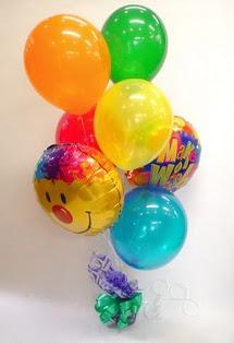 Ankara Polatlı İnternetten çiçek siparişi  17 adet uçan balon ve küçük kutuda çikolata