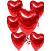 Ankara Polatlı online çiçekçi , çiçek siparişi  17 adet FOLYO kalp görünümünde uçan balon