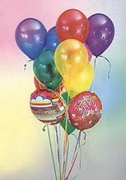 Polatlı çiçek online çiçek siparişi  19 adet karisik renkte uçan balon buketi