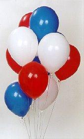 Polatlıdaki çiçekçiler  17 adet renkli karisik uçan balon buketi