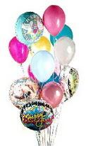 Ankara Polatlı online çiçek gönderme sipariş  görsel kaliteli 17 uçan balon buketi tanzimleri