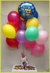 Polatlı anneler günü çiçek yolla  25 adet uçan balon ve 1 kutu çikolata hediye