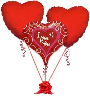 Ankara Polatlı online çiçek gönderme sipariş  3 adet büyük boy kalp uçan balon
