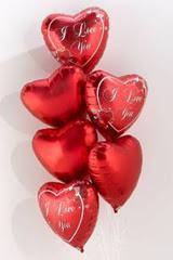 Ankara Polatlı İnternetten çiçek siparişi  6 adet kirmizi folyo kalp uçan balon buketi