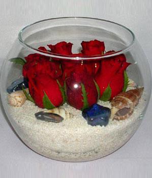 Cam fanus içeirsinde 9 adet kirmizi gül  Polatlı çiçek siparişi vermek