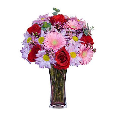 Görsel hediye karisik cam mevsim demeti  çiçekçi mağazası