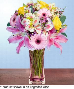 Anneme hediye karisik cam mevsim demeti  internetten çiçek siparişi
