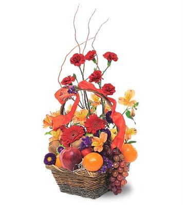 Özel Meyva sepeti ve çiçekler sevdiklerinizi simartin  internetten çiçek siparişi
